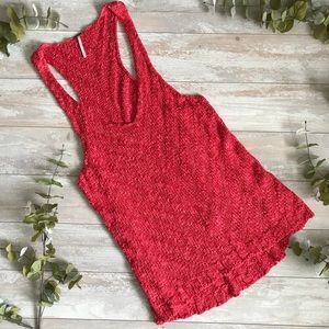 Free People Red Knitted Dress
